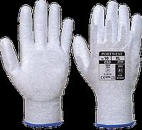Антистатические перчатки с ПУ покрытием ладони Portwest A199 Серый, L