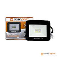 Прожектор светодиодный ЕВРОСВЕТ 10Вт 6400К EV-10-504 PRO 900Лм