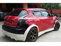 Накладки на арки колес (бушвакеры) для Nissan Juke CT-Sport, Ниссан Жук СТ-Спорт