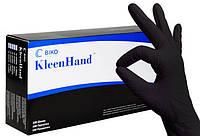 Черные нитриловые перчатки повышенной прочности KleenHand