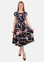 Летнее платье с поясом 44-50 р ( разные цвета )