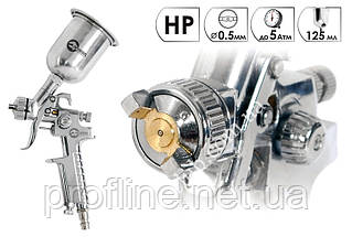 Краскопульт HP STEEL MINI PROF 0,5 мм INTERTOOL PT-0306, фото 2