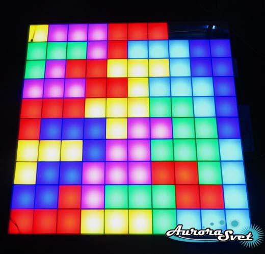 Светодиодная пиксельная панель настенная W-100-10*10-1