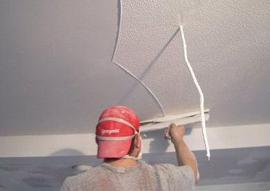 шпаклёвания потолка