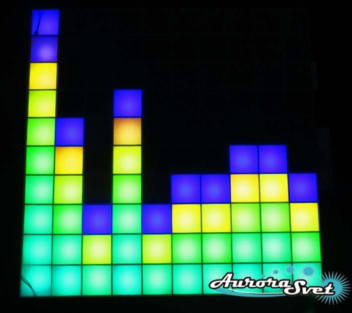 Светодиодная пиксельная панель настенная W-100-10*10-4