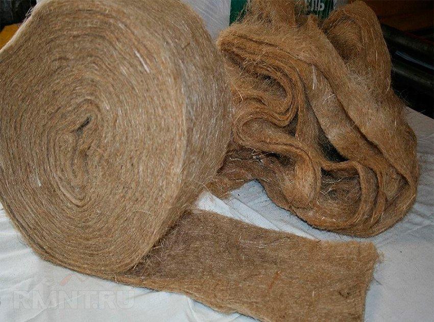 Межвенцовый утеплитель для деревянного дома в ленте джут/лен шир.7 см длина 25 м, фото 1
