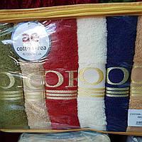 Банные полотенца Турция  6 шт в уп. Размер 1.4х70 оптом хорошего  качество