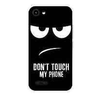 Чехол с рисунком Printed Silicone для Prestigio Wize R3 3423 Don't Touch My Phone