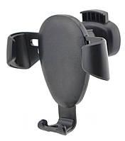 Держатель для смартфона в машину автомобильный Чёрный подставка в авто для телефона автодержатель