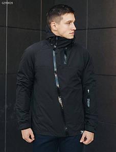 Весенне-осенняя черная мужская куртка стафф/ Чоловіча куртка стафф Staff HH black GZR0020