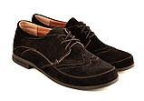Туфлі для дівчинки шкільні шнурівка замша чорний 732119, фото 2