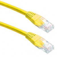 """Патч корд cablexpert pp22-1m/y, ftp, литой, 50u """"штекер с защелкой, 1 м, желтый"""