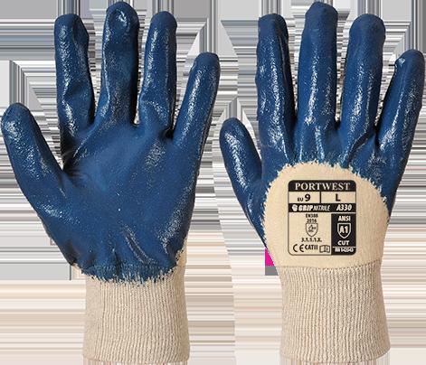 Лёгкие нитриловые перчатки Portwest A330 Темно-синий, L