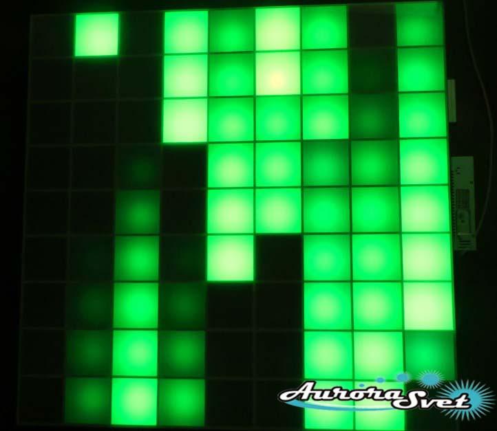 Светодиодная пиксельная панель настенная W-111-9*9-4