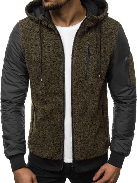 Мужской бомбер цвета хаки с капюшоном. Куртка мужская демисезонная. Мужская курточка цвета хаки.