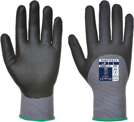Перчатки DermiFlex Ultra A352 Серый/Черный, L