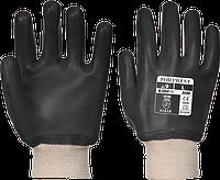 ПВХ перчатки с трикотажной манжетой  A400, фото 1