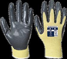 Нитриловые перчатки Portwest Cut 3 A600 Желтый/Серый, L