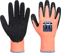 Нитриловые перчатки Portwest Vis-Tex Winter HR Cut A646 Оранжевый/Черный, L