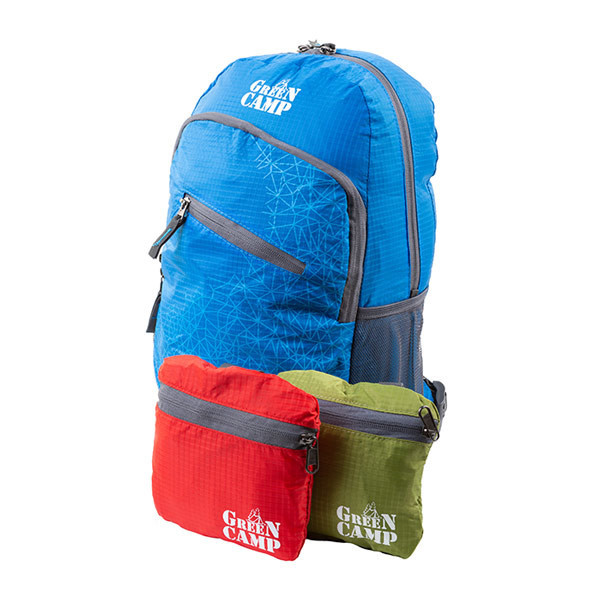Складывающийся рюкзак (велорюкзак) GreenCamp, синий
