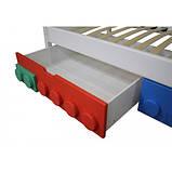 Дитяче односпальне ліжко Легго-1 дерев'яна, фото 3