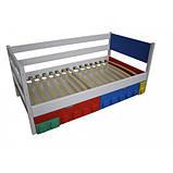 Дитяче односпальне ліжко Легго-1 дерев'яна, фото 2
