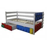 Дитяче односпальне ліжко Легго-1 дерев'яна, фото 4