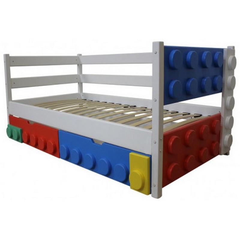 Дитяче односпальне ліжко Легго-1 дерев'яна