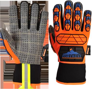 Перчатки Portwest Aqua-Seal Pro A726 Оранжевый/Синий, L