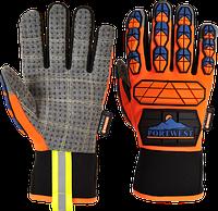 Перчатки Portwest Aqua-Seal Pro A726 Оранжевый/Синий, L, фото 1
