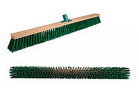 Щетка-метла для улицы 80 см. Щетка уличная деревянная с пластмассовым креплением для черенка