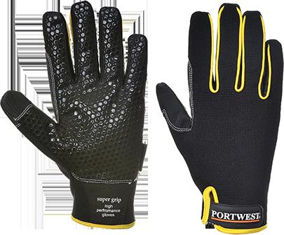 Высокоэффективные перчатки Portwest Supergrip A730 Черный, L