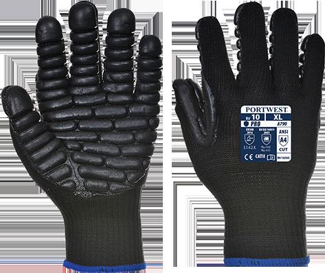 Антивибрационные перчатки Portwest A790 Черный, L