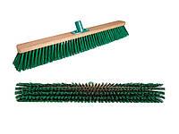 Щетка-метла для улицы 60 см. Щетка уличная деревянная с пластмассовым креплением для черенка