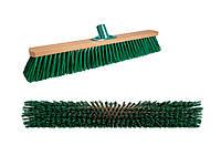 Щетка-метла для улицы 50 см. Щетка уличная деревянная с пластмассовым креплением для черенка