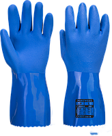 Синие рукавицы из ПВХ Portwest A881 Синий, L