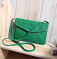 Сумка клатч женская модная зеленая