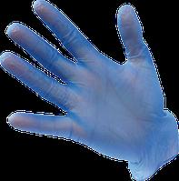 Перчатки виниловые одноразовые с присыпкой