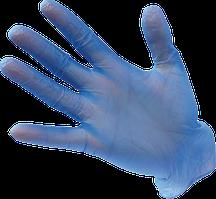 Перчатки виниловые одноразовые без присыпки