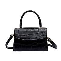 Черная маленькая женская сумочка со змеиным принтом опт, фото 1