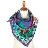 10707-15, павлопосадский платок на голову хлопковый (саржа) с подрубкой, фото 2