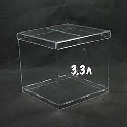 Ящик для пожертвувань 150/150/150мм 3,3 літра