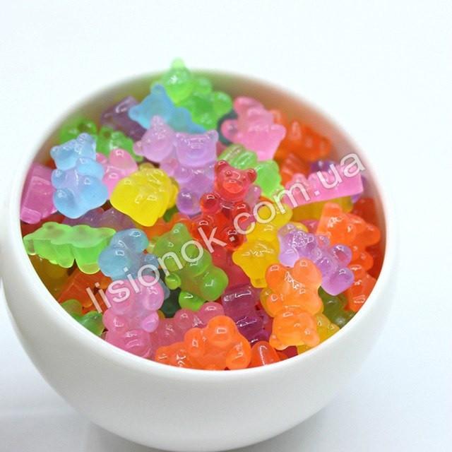 Шармики для слаймов желейные медведи - 5 шт. (имитация конфет Haribo) – для украшения слайма, slime charms