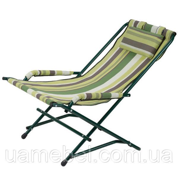 """Кресло """"Качалка"""" Ø20 мм (текстилен зеленая полоса) 2110008"""