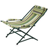 """Кресло """"Качалка"""" Ø20 мм (текстилен зеленая полоса) 2110008, фото 1"""
