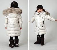 Пуховое зимнее пальто для детей