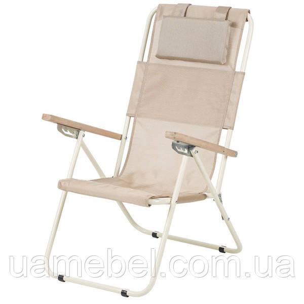 Кресло-шезлонг «Ясень», Ø 20мм (текстилен золотистый) 2110017