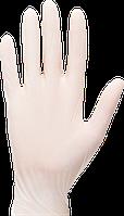 Перчатки латексные одноразовые с присыпкой