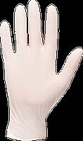 Перчатки латексные одноразовые без присыпки A915 Белый, L