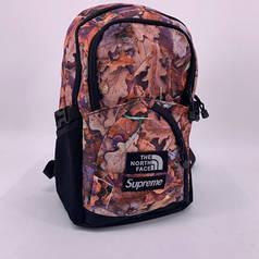 Рюкзак с рефлективными вставкамиThe North Face & Supreme коричневый топ-реплика